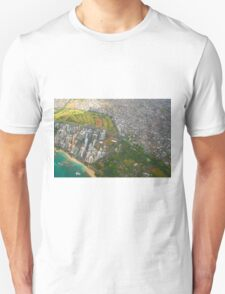 Areal view of Honolulu, OAHU HAWAII Unisex T-Shirt