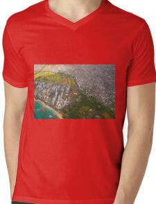 Areal view of Honolulu, OAHU HAWAII Mens V-Neck T-Shirt