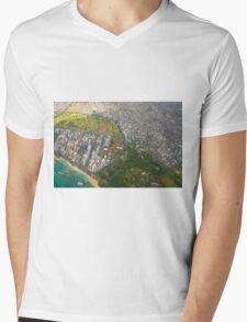Areal view of Honolulu, OAHU HAWAII Mens V-Neck T-Shirt