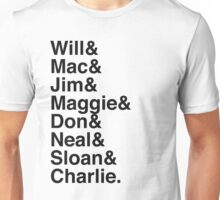 The Newsroom - First Names (Black text) Unisex T-Shirt