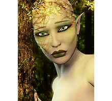 Earth Day Sad Elf Photographic Print