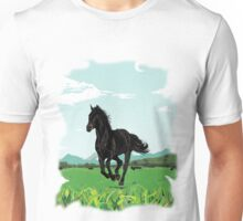 Horse In The Green Unisex T-Shirt