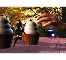 Cupcake, Butterfly, and Fairy Photographic Print