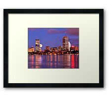 Moonlit Boston on the Charles Framed Print