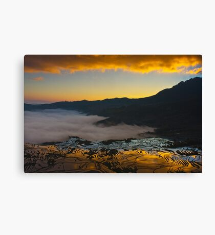 Yuanyang Terraced rice field 2 Canvas Print