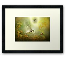 The Mayfly told the Ladybird of his Dream...! Framed Print