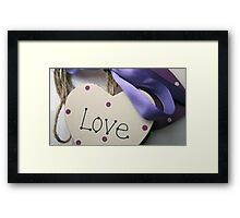 Love On A Ribbon & Twine Framed Print