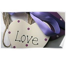 Love On A Ribbon & Twine Poster