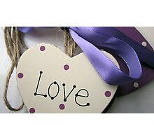 Love On A Ribbon & Twine Photographic Print