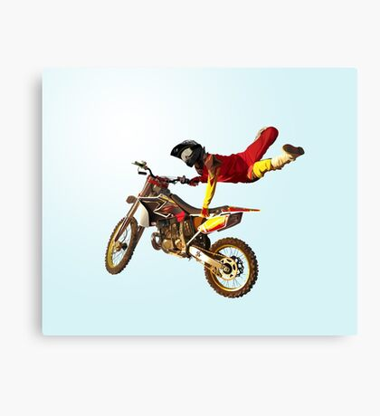 My Bike Brings Me In The Sky: I Can Fly! Canvas Print