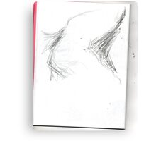 copy sculpture foot 5 -(230511)- pencil/A4 drawing pad Canvas Print