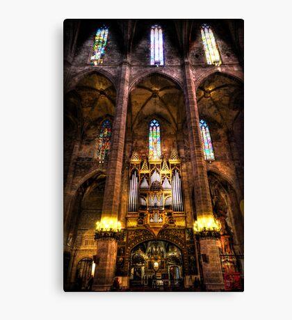 Palma Cathedral Pipe Organ Canvas Print