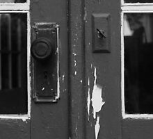Rustic Cottage Door (Detail) by Edward A. Lentz