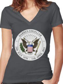 Darren Edgeller - Dark Women's Fitted V-Neck T-Shirt