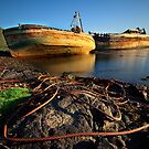 Morning light on the Salen wrecks by Shaun Whiteman