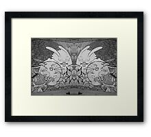Graffiti Wall Framed Print
