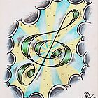 Floating Treble Clef by hammeltin