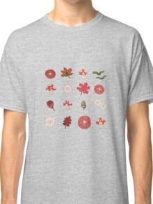 Autumnal flowers and leaves  Classic T-Shirt