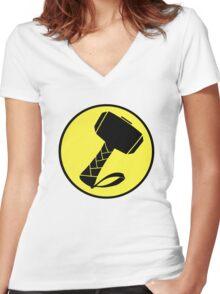 Captain Mjolinir- Everyone's hero! Women's Fitted V-Neck T-Shirt