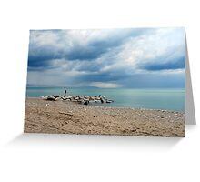 Cloud Art at the Beach Greeting Card