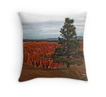 Tree overlooking Bryce Throw Pillow