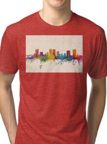 Fort Worth Texas Skyline Tri-blend T-Shirt