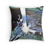 Water Meets Tongs Throw Pillow