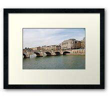 Pont Neuf bridge, Paris Framed Print