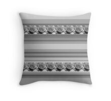 Black and Grey Stripes with Roses Throw Pillow
