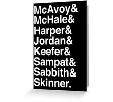 The Newsroom - Last Names (White text) Greeting Card