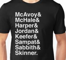 The Newsroom - Last Names (White text) Unisex T-Shirt