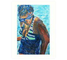 Bathing Beauty (pastel) Art Print