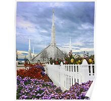 Boise Temple From the Garden 20x24 Poster
