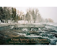 Giant Springs at 6 Degrees Photographic Print