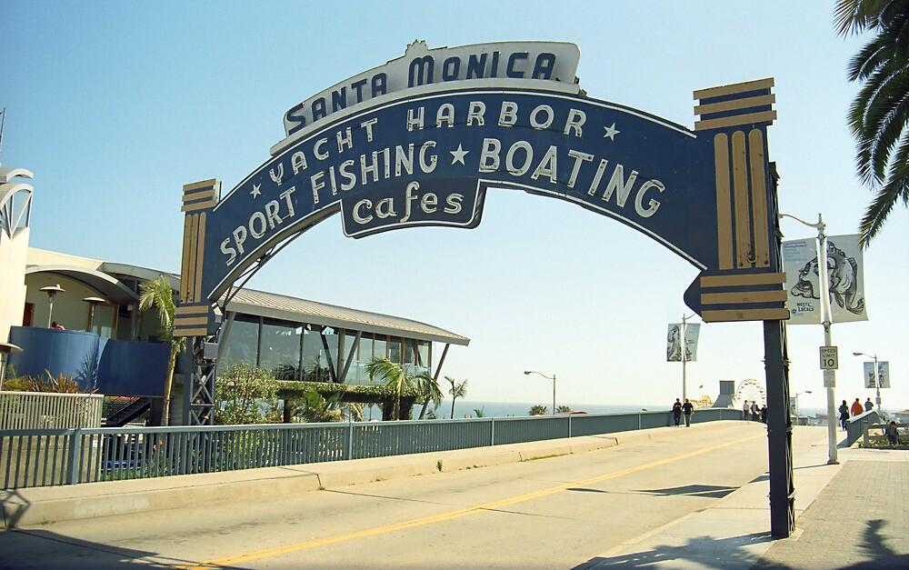 Route 66 - Santa Monica Pier by Frank Romeo