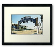 Route 66 - Santa Monica Pier Framed Print