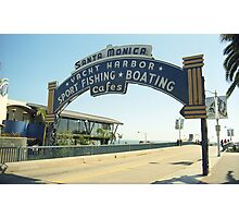 Route 66 - Santa Monica Pier Photographic Print
