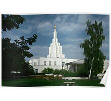 Idaho Falls Temple on a Summer Day 20x30 Poster