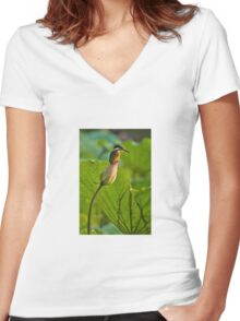 Kingfisher & Lotus Women's Fitted V-Neck T-Shirt