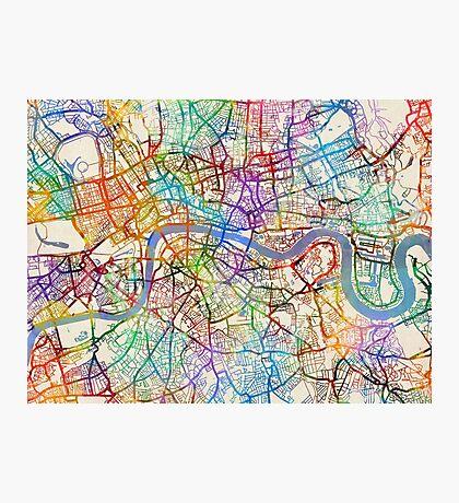 London England Street Map Photographic Print