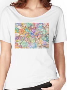 London England Street Map Women's Relaxed Fit T-Shirt