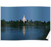 Idaho Falls Temple Morning Reflection 20x30 Poster