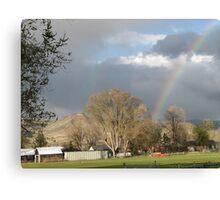 Dayville OR Rainbow Canvas Print