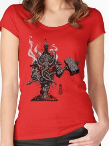 The Game of Kings, Wave One: The Black King's Rook Women's Fitted Scoop T-Shirt