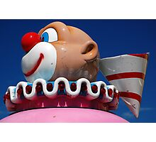 Carnival Ride Clown Photographic Print