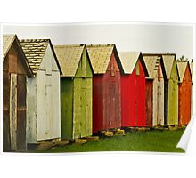 Colorful Sheds Poster