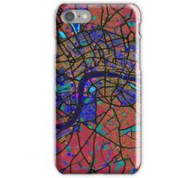 London England Street Map iPhone Case/Skin