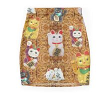Lucky Chance Cats maneki neko on Rice Mini Skirt