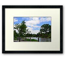 Wooden dock by the Japanese Garden Framed Print