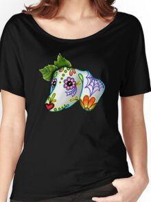 Day of the Dead Dachshund Sugar Skull Dog Women's Relaxed Fit T-Shirt